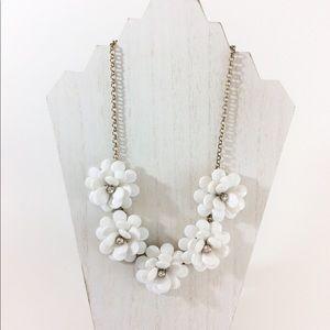 J Crew flower statement necklace